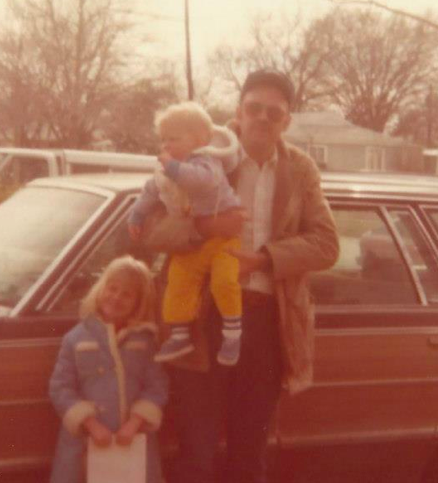 Dad, little brother and me, circa 1979.